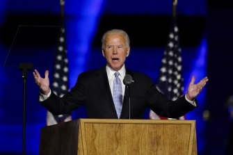 President-elect Joe Biden during his victory speech.