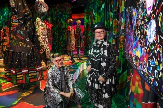 Sydney's Museum of Applied Arts and Sciences latest fashion exhibition celebrates the work of designers  Jenny Kee and Linda Jackson.