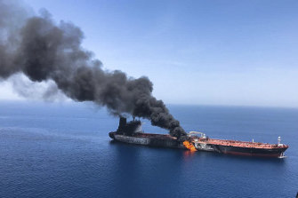 Two oil tankers near the strategic Strait of Hormuz were reportedly attacked by the Iranian Revolutionary Guard in June.