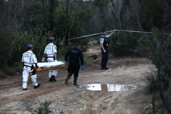 The 33-year-old's body was recovered by police near Sandy Point Quarry in bushland near Menai.