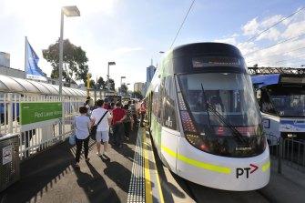 An E-Class tram.
