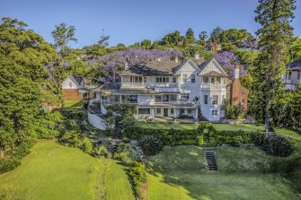 The historic property Elaine, bought by Scott Farquhar and Kim Jackson  for $71 million three years ago.