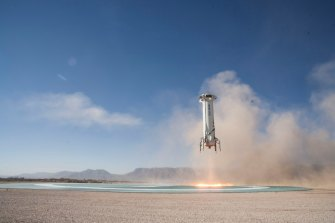 Blue Origin's New Shepard booster is named after Alan Shepard, the first American in space.