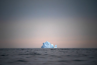 A large iceberg floats away near Kulusuk, Greenland, last year.