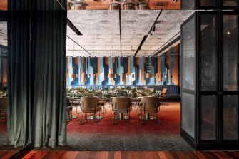 Santini Bar and Grill's private dining room at QT Hotel.