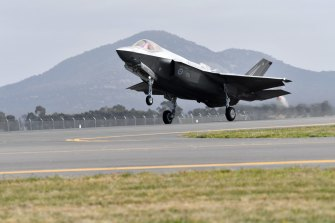 Australia's first F-35 Joint Strike Fighter.