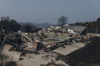 Properties destroyed in Conjola Park in the New Year's Eve fires.