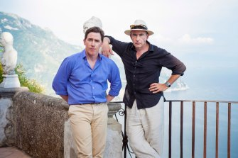 'I felt like I was Hugh Grant in a rom-com written by Richard Curtis,' says Brydon (left) of the decision for his character to have a one-night stand in The Trip to Italy.