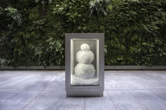 An ever-changing snowman by Swiss artists Peter Fischli and David Weiss features in GOMA's Water exhibition.