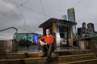 Ben Armstrong, owner of carbon neutral Atiyah in Federation Square.
