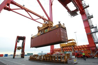 The ports are busier than ever because of a spike in demand for imported goods.