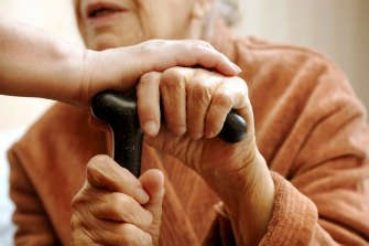 Aged-care home residents often rely on social visits from family and friends.
