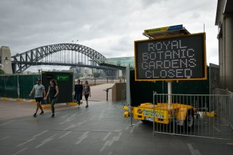Circular Quay was locked down last year to prevent New Year's Eve celebrations.