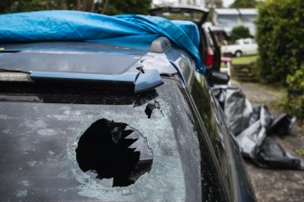 Many homes and vehicles in Berowra  Heights sustained damage when a hailstorm hit the area in December 2018. Studies show hailstones are getting bigger.