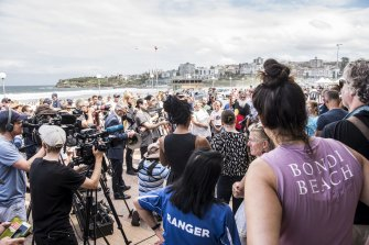 If a picture could tell a thousand words: Bondi Beach being closed after beachgoers ignored social distancing rules.