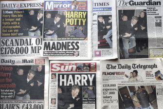 Prince Harry has long had a fraught relationship with Britain's press.