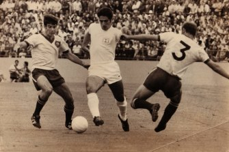 Australian soccer great Johnny Warren (left) benefited from Dr Tooth's surgical skills.