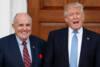 Rudy Giuliani and Donald Trump, pictured in 2016.