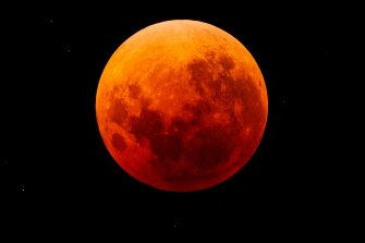 The eerie glow of the super blue blood moon as seen from Kew, in this pic from Melbourne Express reader Joseph.