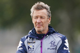 Storm coach Craig Bellamy had some pointed remarks.