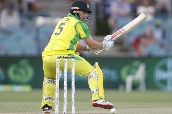 Aaron Finch is looking for form at the crease.