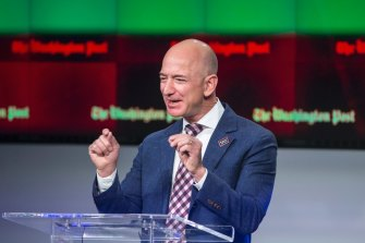 Amazon founder and Washington Post owner Jeff Bezos talks about the history and character of the Post.