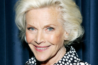 Actress Honor Blackman, pictured in 2008.
