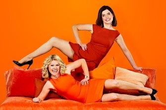 Kate McCartney and Kate McLennan in their breakfast TV parody Get Krackin'.