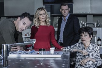 Silent Witness stars  Dr Jack Hodgson (David Caves), Dr Nikki Alexander (Emilia Fox), Dr Thomas Chamberlain (Richard Lintern), and Clarissa Mullery (Liz Carr).