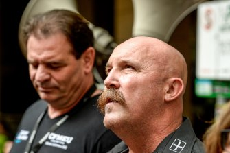Ex-mates: John Setka and Shaun Reardon.
