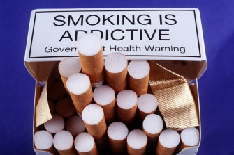 Australian health warnings have become more prominent on cigarette packaging over time.