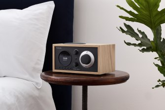 As a clock radio, the Model One+ also has alarm and sleep functions.