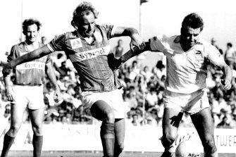 John Kosmina (right) led Hakoah Sydney City to three NSL titles.