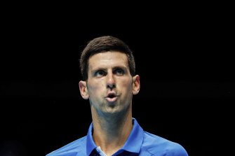 World No.1 Novak Djokovic.