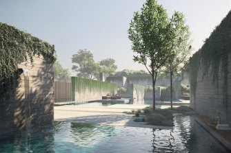 An artist's impression of the 12 Apostles Hot Springs and Resort.