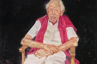 Peter Wegner's portrait of Guy Warren has won the Archibald Prize.