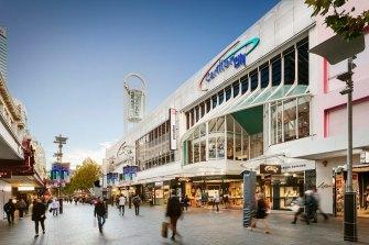 Carillon City shopping centre in Perth.