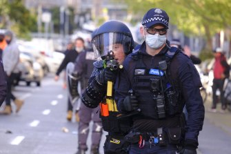 Melbourne was quiet after violent protests in the city last Monday.