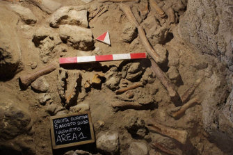 The fossilised bones were found in the Guattari Cave in San Felice Circeo, between Rome and Naples.