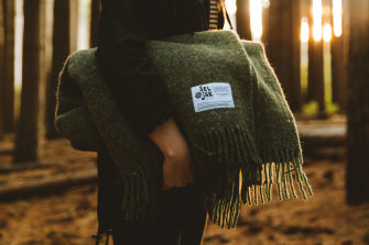 Hotel feel at home ... Australian brand Seljak's blankets are made from recycled wool.