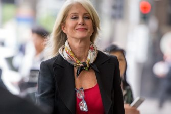 Simone Semmens outside the Melbourne Magistrates' Court in 2015