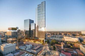 An artists impression of Lang Walker's $3.2b Parramatta Square project.