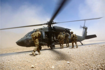 Australian special forces soldiers in Afghanistan in 2012.