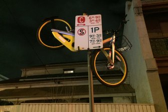 oBikes were found in interesting places during their time in Melbourne.