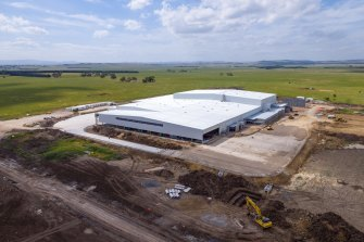 The new Dulux factory which Vaughan Constructions is building at Merrifield.