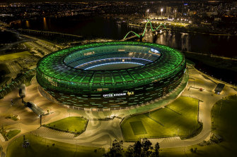 The crown of footy in WA: Perth's new stadium.