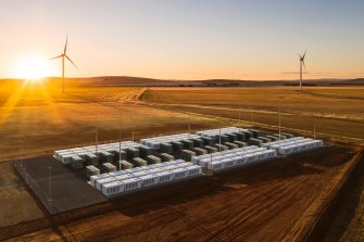 The site of Tesla's big battery and Neoen's Hornsdale wind farm in South Australia.
