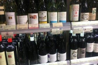 China has put tariffs of up to 200 per cent on Australian wine.