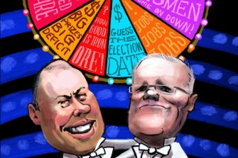 The federal budget's wheel of fortune.