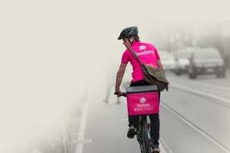 A food delivery rider for Foodora, which has left Australia.